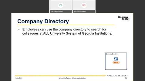 Thumbnail for entry Introduction to Employee Self-Service and Faculty Self-Service--ESS Tiles: Company Directory