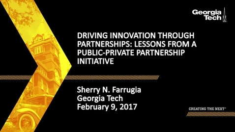 Thumbnail for entry Driving innovation through partnerships: Lessons from a public-private partnership initiative - Sherry Farrugia