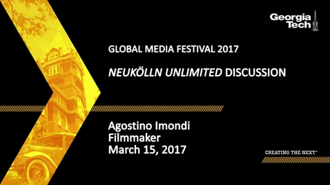 Thumbnail for entry SPAG Media Festival - Neukölln Unlimited Discussion - Agostino Imondi