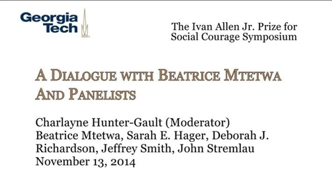 Thumbnail for entry A Dialogue with Beatrice Mtetwa and Panelists - Beatrice Mtetwa