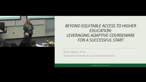 Thumbnail for entry Beyond Access: Using Adaptive Courseware to Improve Success in Foundation Classrooms