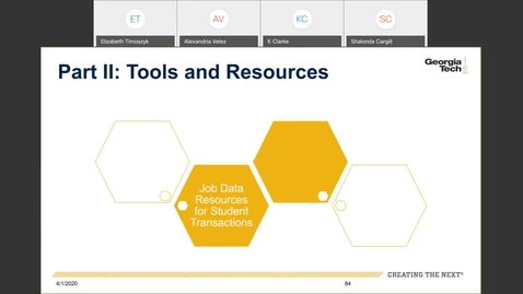Thumbnail for entry Workforce Administration -- Job Data Resources for Student Transactions