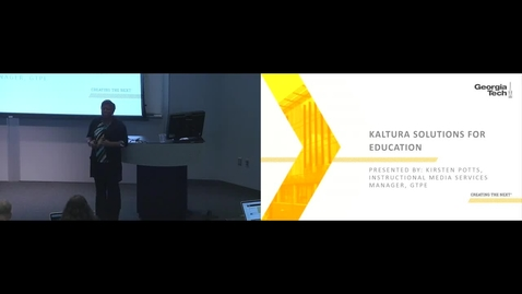 Thumbnail for entry Kaltura - GTPE New Tools Showcase 07-27-2016
