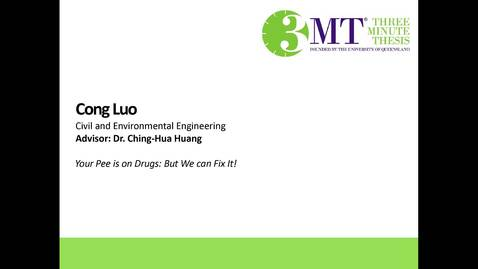 Thumbnail for entry Cong Luo - Your Pee is on Drugs: But We Can Fix It