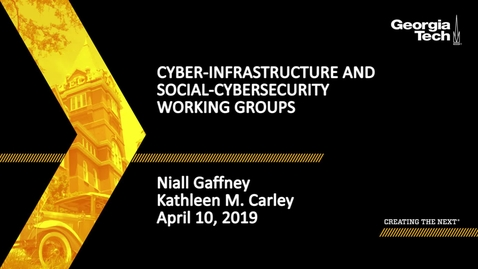 Thumbnail for entry 2019 SBDH All Hands Meeting - Cyber-Infrastructure and Social-Cybersecurity Working Groups