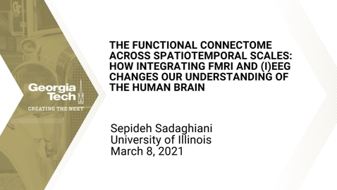 Thumbnail for entry Sepideh Sadaghiani - The functional connectome across spatiotemporal scales: How integrating fMRI and (i)EEG changes our understanding of the human brain