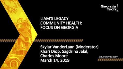 Thumbnail for entry Khari Diop, Sagdrina Jalal, Charles Moore, Skylar VanderLaan - Community Health: Focus on Georgia