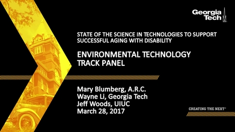 Thumbnail for entry Environmental Technology Track Panel - Mary Blumberg, Wayne Li, Jeff Woods