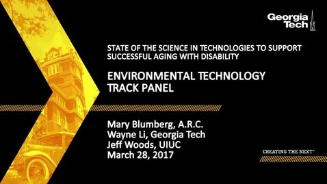 Thumbnail for entry Environmental Technology Track Panel - Mary Blumberg, Wayne Li, Jeff Woods