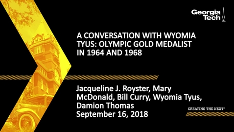 Thumbnail for entry A Conversation with Wyomia Tyus, Olympic Gold Medalist in 1964 and 1968