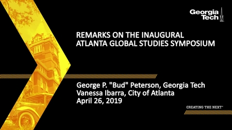 Thumbnail for entry Remarks on the Inaugural Atlanta Global Studies Symposium