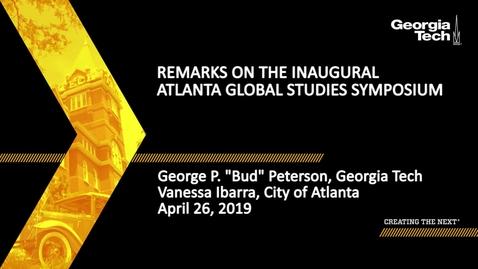 Thumbnail for entry Remarks on the Inaugural Atlanta Global Studies Symposium