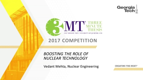 Thumbnail for entry Boosting the Role of Nuclear Technology - Vedant Mehta