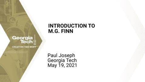 Thumbnail for entry Paul Joseph - Introduction to M.G. Finn (NanoFANS)