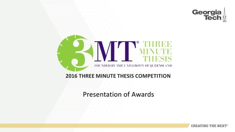 Thumbnail for entry Presentation of Awards