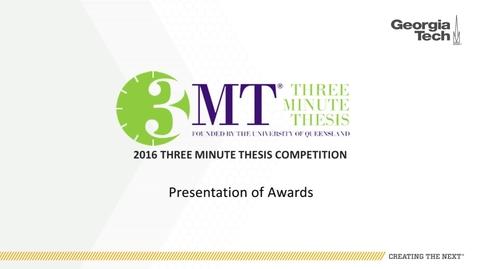 Thumbnail for entry Presentation of Awards