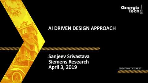 Thumbnail for entry Sanjeev Srivastava - AI Driven Design Approach