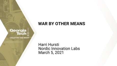 Thumbnail for entry Harri Hursti - War By Other Means