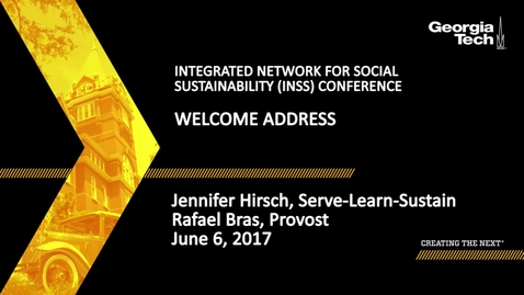 Thumbnail for entry Smart, Connected Communities Welcome Address - Jennifer Hirsch, Rafael Bras