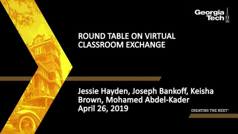 Thumbnail for entry Roundtable on Virtual Classroom Exchange