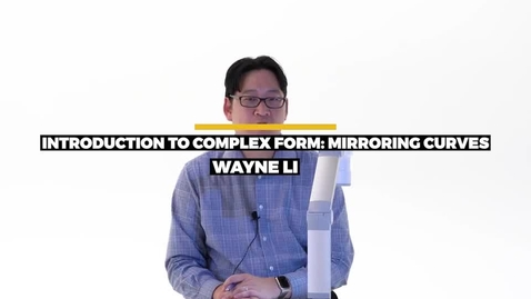 Thumbnail for entry Introduction To Complex Form - Mirroring Curves