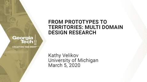 Thumbnail for entry Kathy Velikov - From Prototypes to Territories: Multi Domain Design Research
