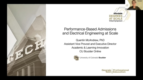 Thumbnail for entry Performance-Based Admissions and Electrical Engineering at-Scale