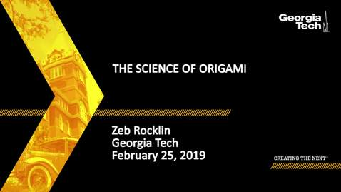 Thumbnail for entry Zeb Rocklin - The Science of Origami