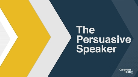 Thumbnail for entry The Persuasive Speaker