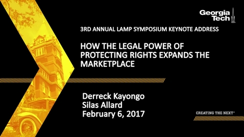 Thumbnail for entry How the Legal Power of Protecting Rights Expands the Marketplace - Derreck Kayongo, Silas Allard