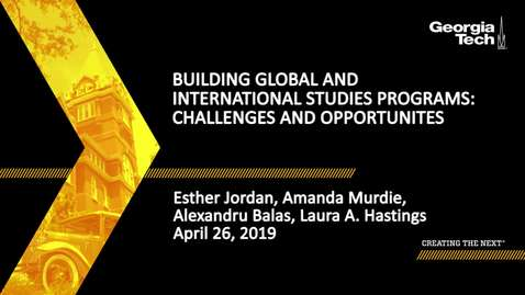 Thumbnail for entry Building Global and International Studies Programs: Challenges and Opportunites