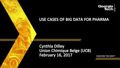 Thumbnail for entry Use Cases of Big Data for Pharma - Cinthia Dilley