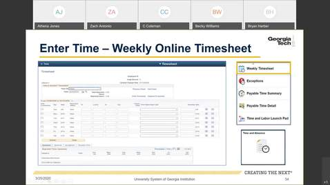 Thumbnail for entry Introduction To Employee Self Service -- Time Entry in ESS: Weekly Online Timesheet