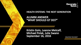 """Thumbnail for entry Alumni Answer """"What Should GT Do?"""" (Panel 3)"""