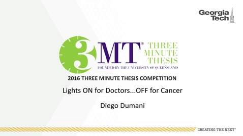 Thumbnail for entry Lights ON for doctors... OFF for cancer - Diego Dumani