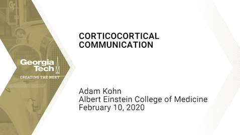 Thumbnail for entry Adam Kohn - Corticocortical Communication