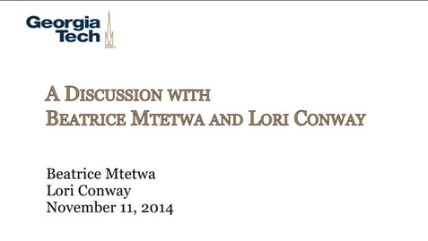 Thumbnail for entry Dialogue with Beatrice Mtetwa and filmmaker Lorie Conway - Beatrice Mtetwa, Lori Conway