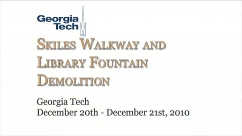 Thumbnail for entry 12-20-2010 Skiles Walkway Demolition