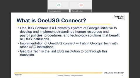 Thumbnail for entry Introduction to Employee Self-Service and Faculty Self-Service-- OneUSG Connect Overview