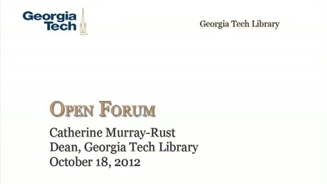 Thumbnail for entry 10-18-2012 Library Open Forum