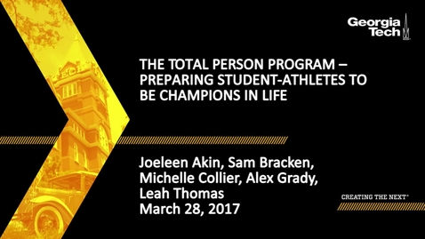 Thumbnail for entry The Total Person Program – Preparing Student-Athletes to be Champions in Life - Joeleen Akin, Sam Bracken, etal