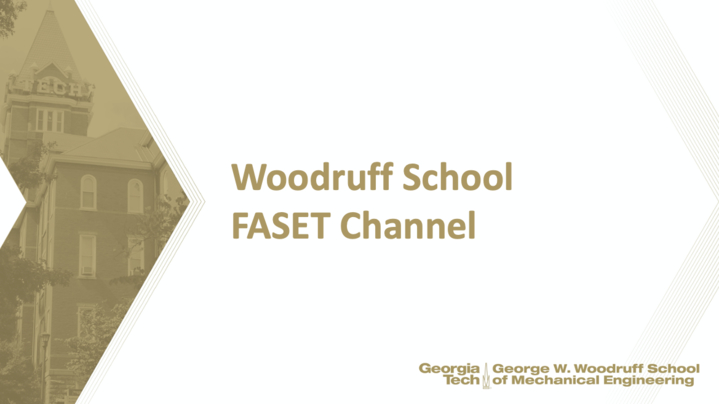 Thumbnail for channel Woodruff School FASET Channel