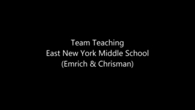 Thumbnail for entry CTT - Team Teaching - MS (Emrich & Chrisman)