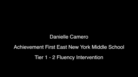 Thumbnail for entry Video 1 - Daily Fluency Practice - Danielle Camero - ENYMS April 2016 - 6 min.