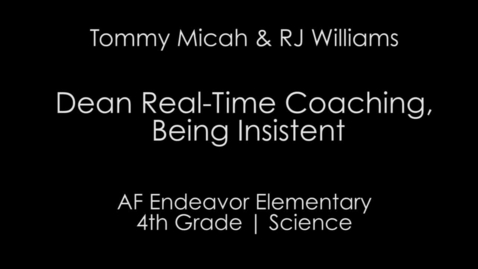 Thumbnail for entry Real Time Coaching & Being Insistent