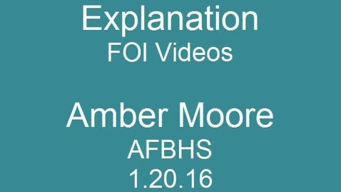 Thumbnail for entry Science FOI Videos - Explanation - 11th grade Pre-AP Biology Amber Moore