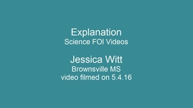 Thumbnail for entry Secondary Science - FOI Session - Explanation
