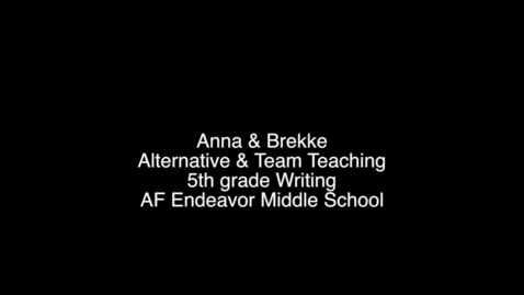 Thumbnail for entry Alternative & Team Teaching - Corrections (chapters)