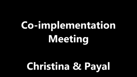 Thumbnail for entry Co-implementation Video