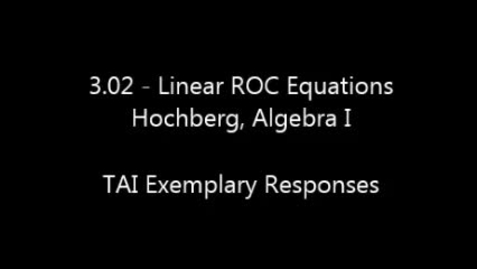 Thumbnail for entry TAI - HS Math - Exemplar Responses